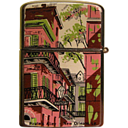 Vintage High Quality Penquin Lighter with Scenes of New Orleans