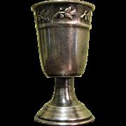 "Antique Silverplated Liquor Cordial Shot Measure 2 3/4"" Goblet"