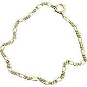 "SALE Antique Victorian Watch Chain 17"" Gold Filled Necklace"