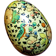 Vintage Hand Painted Wooden Kashmir Darning or Decorative Egg