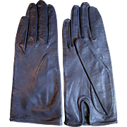Size 6 Unused Gray Kid Leather Gloves by Grandoe