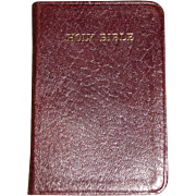 Pocket Oxford KJV English Bible, French Morocco Leather, Original Slip Cover, Like New