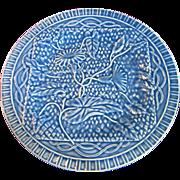 Portuguese Majolica Plate by Bordallo Pinheiro, Morning Glory