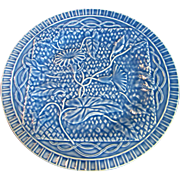 Portuguese Majolica Plate by Bordallo Pinheiro, Morning Glory