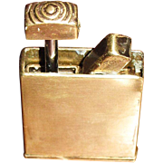 Vintage Brass Automatic Push Button Cigarette Lighter, Gas, Unknown Maker, Rare!