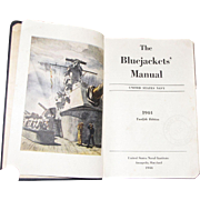 1944 Vintage WWII Bluejackets' Manual Navy Book Guide World War II / 2