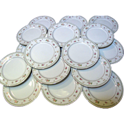 "Set of 17 Abingdon Fine Porcelain 6 3/8"" Bread and Butter Plates"