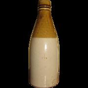 """SALE 19th Century Tan&Cream Stoneware/Pottery Bottle, Stamped """"Gray of Portobello"""""""