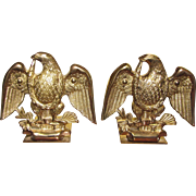 Baldwin Brass Spread Eagle Bookends Forged In USA