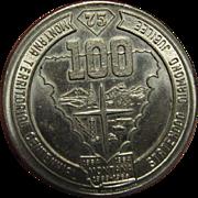 1964, Montana Territorial Statehood Diamond Jubilee Official Souvenir Dollar Coin