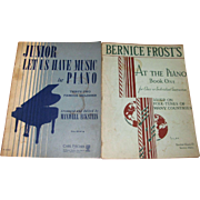 1935, Bernice Frost :At the Piano, Book 1 & 1958, Junior Let Us Have Music for ...