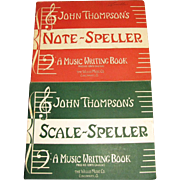 1947,Scale Speller Music Writing John Thompson Piano Beginner Lessons Book & 1946, Note Spelle