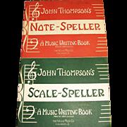 1947,Scale Speller Music Writing John Thompson Piano Beginner Lessons Book & 1946, Note Spelle