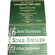 1947,Scale Speller Music Writing John Thompson Piano Beginner Lessons Book &