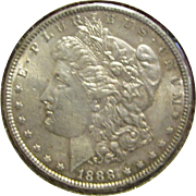 1888***Morgan Silver Dollar***Minted in Philadelphia, Very Detailed Stamped Coin!!!! VF+