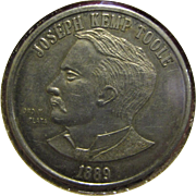 1889, Commemorating Medal of Montana Becoming a State and Joseph Kemp Toole as Montana's ...