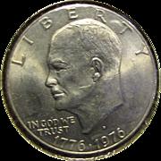 Eisenhower Dollar 1776-1976-D Bicentennial Brilliant Almost Uncirculated US Denver Mint