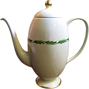 Franciscan Fine China Arcadia Green Coffee Pot