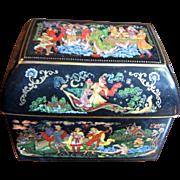 Decorative Russian Fairy Tale Porcelain Trinket Box