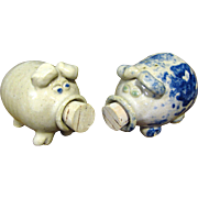 Fun Artisan Hand Made Pottery Pig Shakers