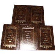 Set of Five Avenel Books - Sonnets of William Shakespeare, Aesop's Fables, Leaves of Grass ...