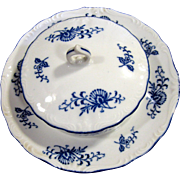 Blue Dresden Pattern Round Covered Butter Dish by Sphinx