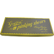 1950's Griffon Pinking Shears in Original Box