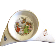 Rare Underwood's 1912  High Chair Baby Plate