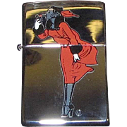 "Vintage Zippo Lighter, Re-issue of the 1935 Varga Girl, ""Windy"", Made in the USA ..."