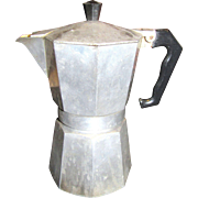 Vintage Italian Aluminium Stovetop Espresso Coffee Maker by Morenita