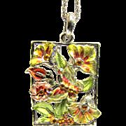 Prettiest Summery Rhinestone Butterfly Pendant Necklace