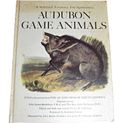 1968 HC Treasury for Sportsmen Audubon Game Animals 82 Color Prints Quadrupeds by John James .