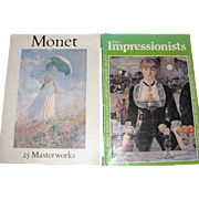 Claude Monet 25 Master Works (1982) & Impressionists and Post-Impressionists (1978), Large ...