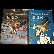 """1964, 2 Book Box Set """"Water Prey & Game Birds and Song & Garden Birds of North ..."""