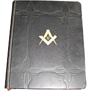 Collectible Holman Masonic Holy Bible, Copyright 1931, Leather Bound, Large, Excellent ...