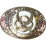 """Vintage Brass Belt Buckle """"Great American Products USA"""" & """"The United States Of"""