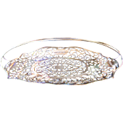 SALE Stunning Antique Silver Quadruple Plated Bread Basket by the Apollo Silver Company