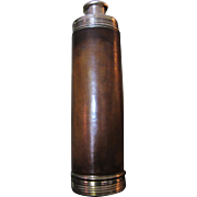 SALE Very Early Vintage Leather Covered Gentlemans Cologne Bottle