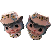 LEFTON Cats in Hats Salt and Pepper Shaker Set