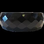 Black Deco Bakelite Faceted Bangle Bracelet