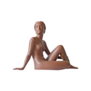 REDUCED Superb 1930s French Terracotta Nude Lady Sculpture by Ugo Cipriani. 14 x 10 inches