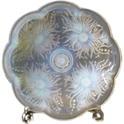 SOLD Particularly rare & desirable 1930s French opalescent glass charger / bowl by Francia