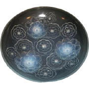 Rare & Desirable French Art Deco opalescent glass 3-footed bowl by Sabino c1930s