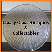 REDUCED Etling, Choisey-le-Roi 1930s French Art Deco Sunflower Pattern Satin Frosted Glass Bow