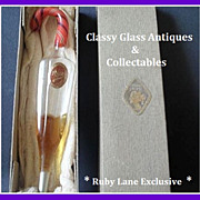 REDUCED Exquisite Early 1900's German Hand Blown Glass Perfume Bottle. Boxed