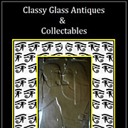 REDUCED Vintage & Unique 10 inch  faux bronze panel tablet of an Egyptian tomb wall scene.
