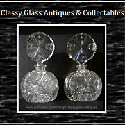 REDUCED A Fine Pair of Quality Vintage Cut Cristal Perfume Scent Bottles by Edinburgh Crystal,