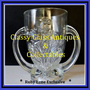 REDUCED French Verlys Les Campuneles 'Bluebells' Crystal Glass Trophy Vase circa 1925 - 1930