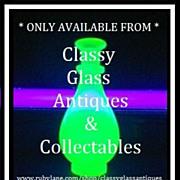 SALE PENDING Antique Art Nouveau Arts & Crafts Free Blown Opalescent Vaseline Uranium Glass Va