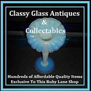 REDUCED Original English Victorian Cased Crystal Opal / Opalescent Glass Vase. Stourbridge, En